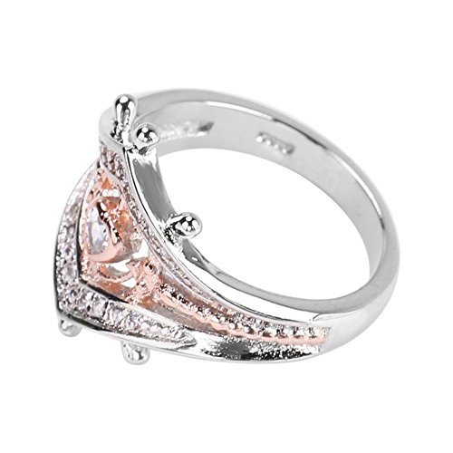Vintage Zircons Ring, Women Solid Matte Romatic Wedding Engagement Birthday(6#)