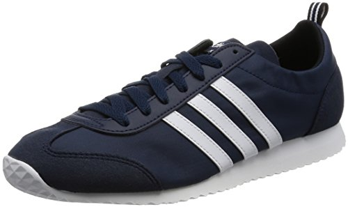 Adidas Vs Jog - Aw4702 Wit-navy Blue