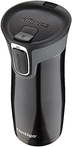 Contigo Autoseal Travel Tumbler with Easy-Clean Lid, Black,