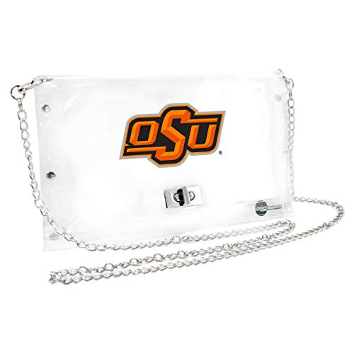 Littlearth Oklahoma State Cowboys  NCAA Envelope Purse, Clear  - 10 x 0.5 x 6.5 - Inch