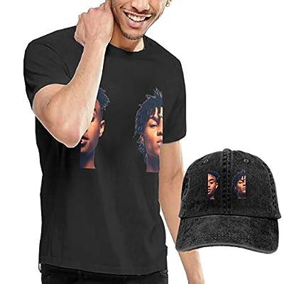 Men's Black Short Sleeve Rae-Sremmurd T Shirt Dad Baseball Cap