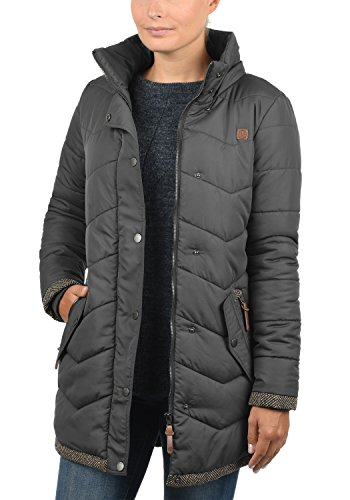 Coat with Desires Parka Denise Women's Jacket Dark Grey 2890 Outdoor Quilted Hood qffw6tZ