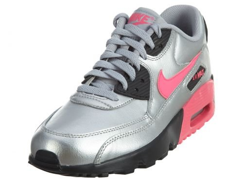 pretty nice 0df48 a69af Galleon - NIKE Air Max 90 LTR (GS) Big Kid s Shoes Metallic Silver Hyper  Pink 833376-004 (5 M US)