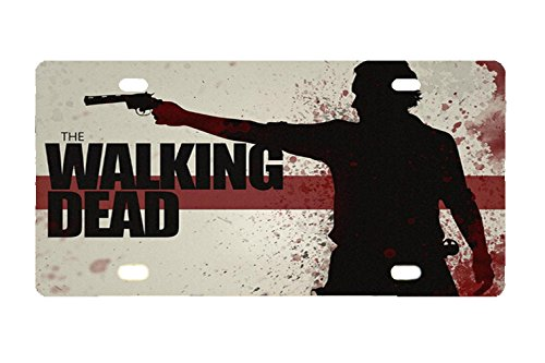 Dead Front Plate (Panda Gun Walking Dead custom Metal License Plate for Car 12 inch X 6 inch)