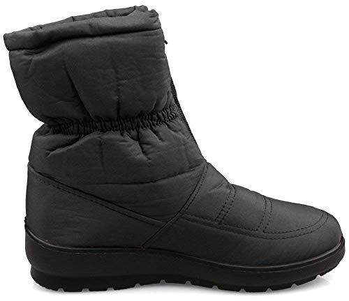 Faux Waterproof 2 Kemosen Boots Boot Ladies Black Ankle Slip Fur Winter Outdoor Snow Women Anti Warm SC5Zwq5Y