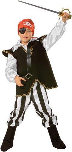 César - Disfraz de Pirata con Espada, Parche y pañuelo para niño ...