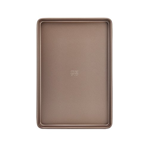 Chicago Metallic 5212099 Elite Non-Stick Carbon Steel Large Cookie/Baking Sheet, 17-Inch-by-11.25-Inch, Bronze by Chicago Metallic (Image #1)