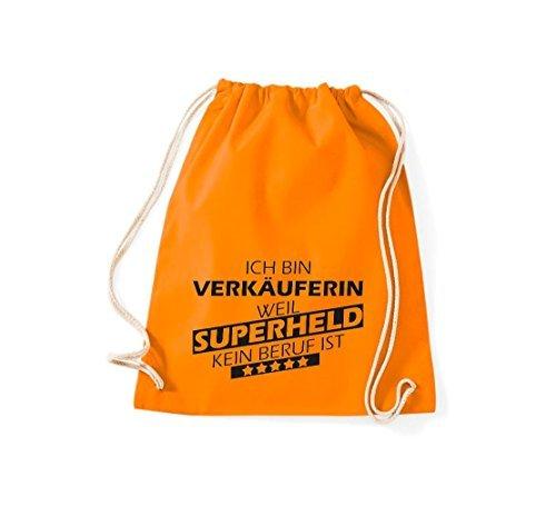 Shirtstown Bolsa de gimnasio Estoy Verkäuferin, weil Super héroe sin Trabajo ist Naranja