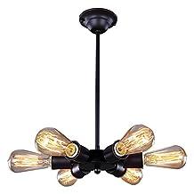 Signstek 6 Head Vintage Industrial Metal Ceiling Pendant Light Shade (Bulbs Not Included)