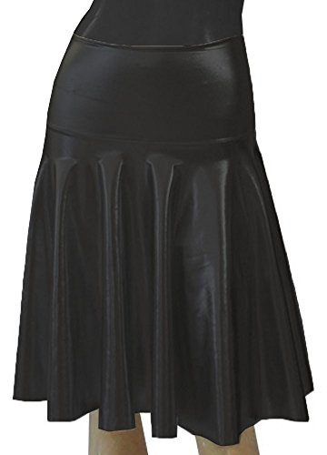 E K Women's flared short skirt Circle high or low waist mini skirt for party-black-xl-1x