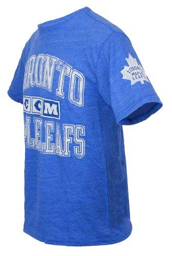 Toronto Maple Leafs CCM Blue Heather Tri-Blend T-Shirt (Size Large)