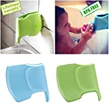 Bath Spout Cover- Bathtub Faucet Cover for Kid Bath Tub Faucet Extender Protector for Baby - Silicone Soft Spout Cover Baby Blue Elephant Child Bathroom Cute Accessories for Bathroom Safety(2pack)