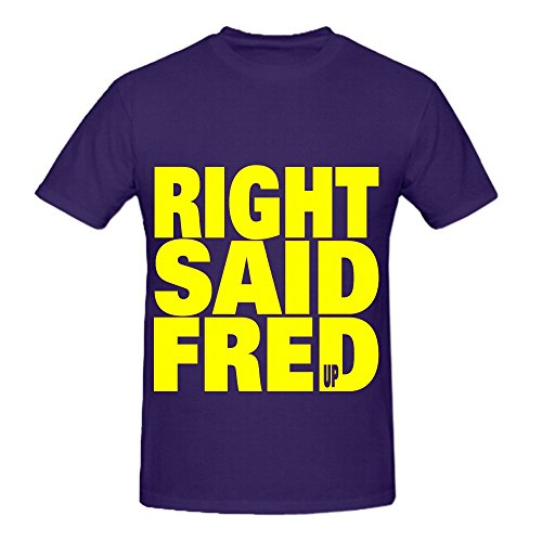 Right Said Fred Up Rock Men Crew Neck Big Tall Tee Purple - Old Polish Flag