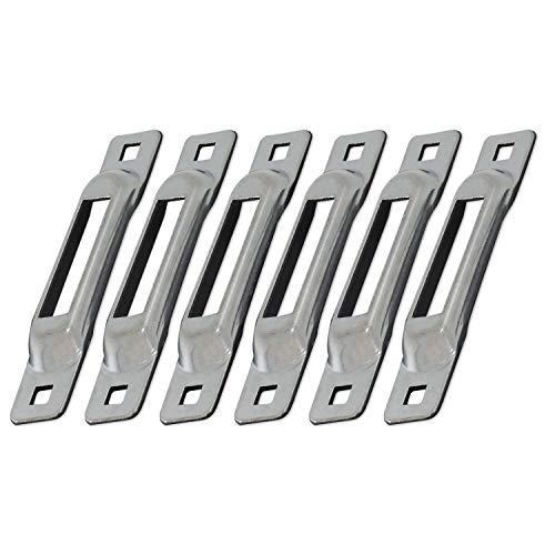Snaplocs Zinc 6 Pack E-Track Single Strap Anchors SLSZ6