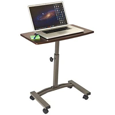 Seville Classics Mobile Laptop Desk Cart WEB162, Rich Cherry