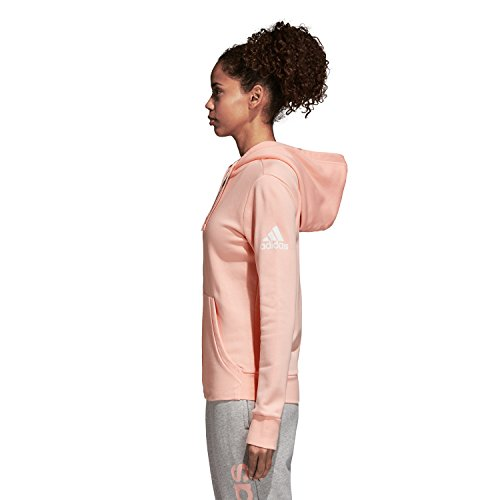 Solid Blanc À Essentials Adidas Capuche Femme Veste Haze Coral pF5Un