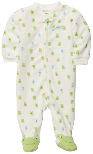 Frog Terry - Carter's Terry Snap - Multi Frog- Newborn