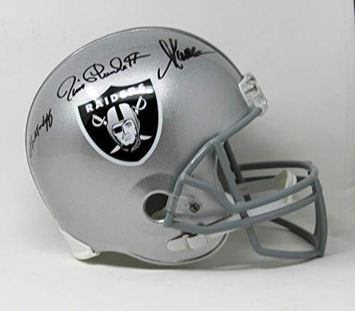 Marcus Allen, Jim Plunkett & Biletnikoff Signed Replica F/s Raiders Helmet Bas - Beckett - Helmet Replica Marcus Allen
