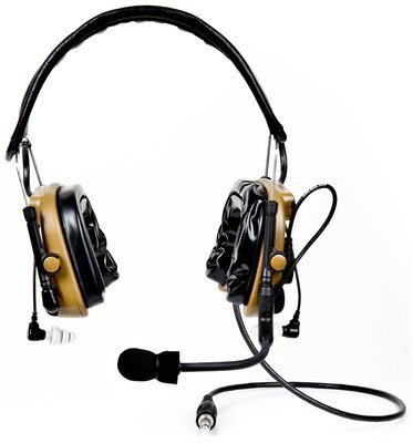 3M 88404-00000 Peltor ComTac IV Hybrid Communication Headset Dual Comm Kit, Coyote Brown by 3M Peltor (Image #1)