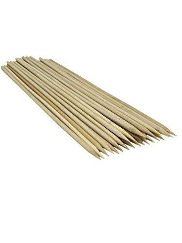 Cheapest Prices! Pride Superior 12 inch Heavy Duty Bamboo Skewers | 30 Pack | Made From 100% All Nat...