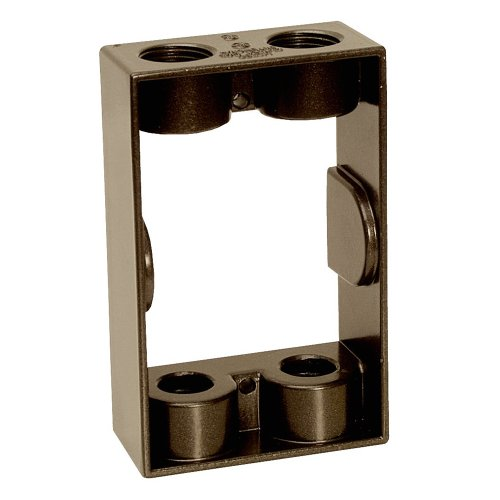 Sigma Electric 14233BR 1/2-Inch 4 Hole 1-Gang Extension Ring, Bronze by Sigma Electric