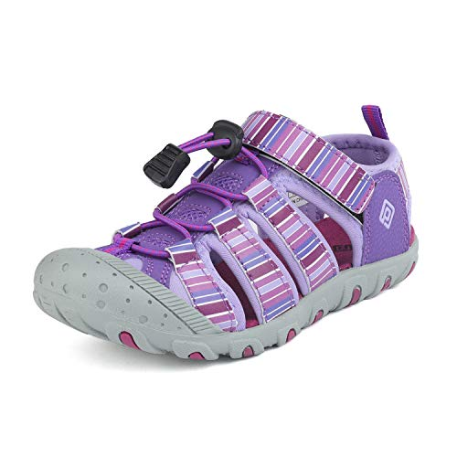DREAM PAIRS Boys Girls Little Kid 181105K Purple Light Purple Athletic Outdoor Summer Sandals Size 13 M US Little Kid