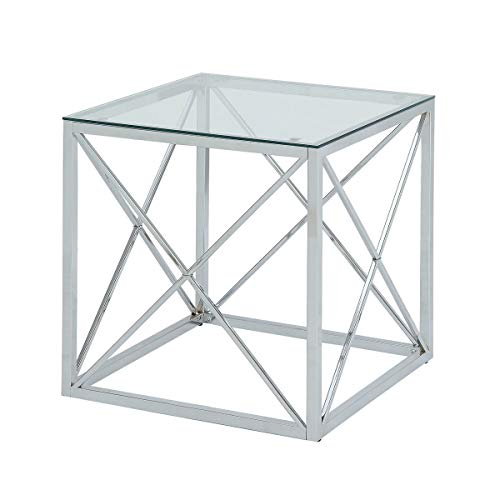 Carolina Chair & Table 1CF2020G-CHR Maren Cube Accent End, Side, Bunching Table, -
