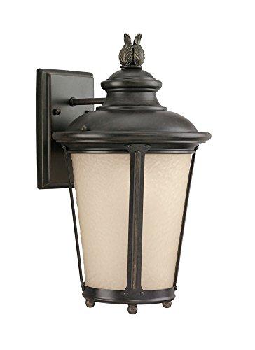 Sea Gull Lighting 88241EN3-780 One Light Outdoor Wall Lantern, Burled Iron