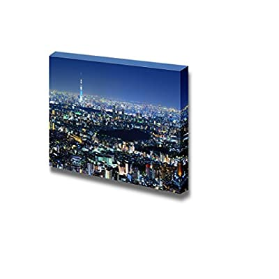 Canvas Prints Wall Art - Beautiful Tokyo Cityscape at Night | Modern Wall Decor/Home Art Stretched Gallery Canvas Wraps Giclee Print & Ready to Hang - 16