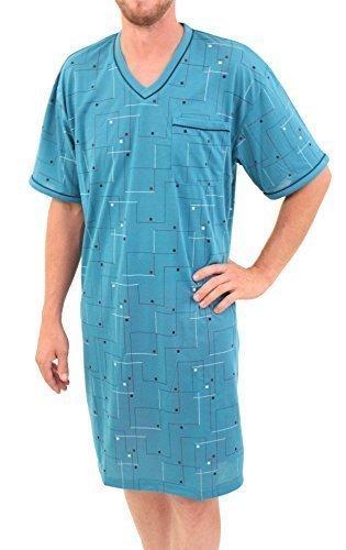 L XL XXL XXXL 100/% Baumwolle Classic Herrennachthemd kurzarm