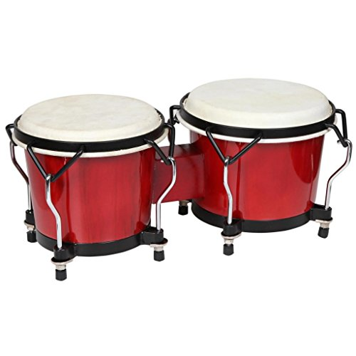 X8 Drums X8-BNG-ENDV-RD Endeavor Series Bongos, Red by X8 Drums
