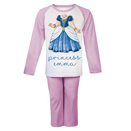 Princesa Cuerpo personalizado pijama infantil pijama para niños niñas personalizado Pjs Niñas Navidad regalos niños rosa Talla:1-2 años: Amazon.es: Bebé