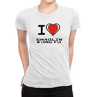 Amazon com: Idakoos I Love Shaolin Kung Fu Bicolor Heart