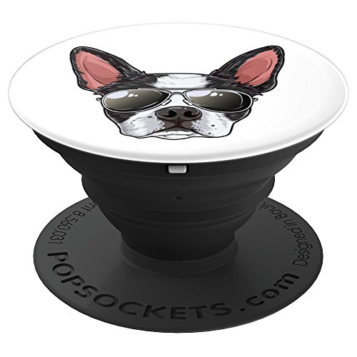 Boston Terrier Sunglasses Funny Dog Meme Puppy Lovers Gifts - PopSockets Grip and Stand for Phones and -