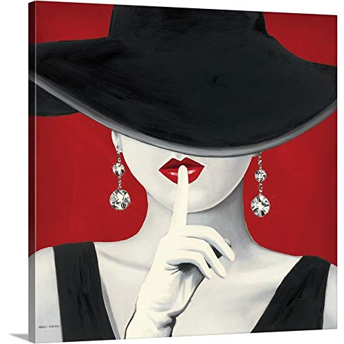 Marco Fabiano Premium Thick-Wrap Canvas Wall Art Print Entitled Haute Chapeau Rouge I 24