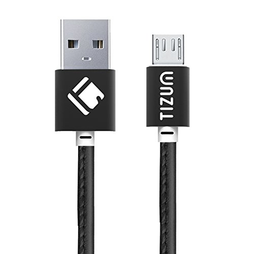 Faux Leather Micro-USB to USB Cable (1.2 meter/ 4 Feet) Fast Charging – 2.4Amp & Sync Data Cable