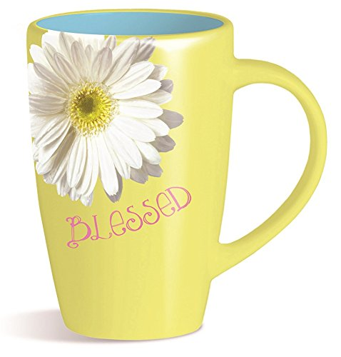 Divinity Boutique 24399 Sunshine Yellow Daisy Mug Multicolor