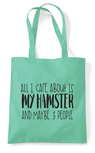 My Three About Mint Animal Hamster I Bag Care All Tote Themed Shopper Cute Is And People Funny Maybe 8HI4q