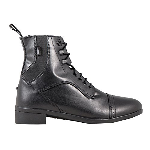 Saxon Ladies Syntovia Lace Paddock Boot 6.5 Black