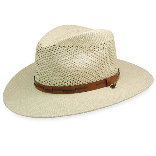 - Stetson Men's Stentson Airway Vented Panama Straw Hat, Natural, Large