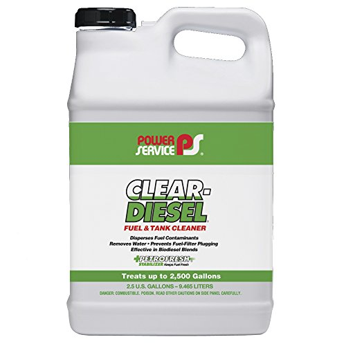 Power Service 09250-02-2PK Clear-Diesel Fuel & Tank Cleaner - 2.5 Gallon, (Pack of 2) by Power Service