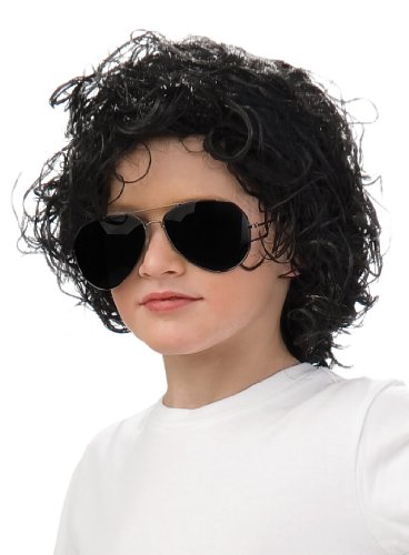 Rubies Michael Jackson Curly Child Wig (80s Fancy Dress Characters)