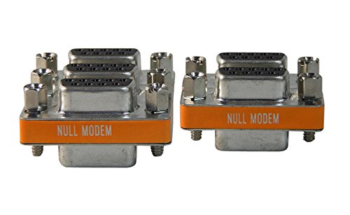 5 Pack Your Cable Store Serial Port 9 Pin Null Modem Adapter DB9 Female / Female (Female Null Modem Adapter)