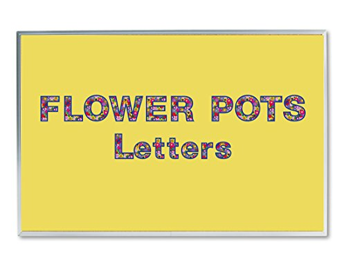 (Hygloss Products Bulletin Board Letters and Numbers - Punch Out Flower Pot Design Combo - 3 Inch, 350 Pieces)