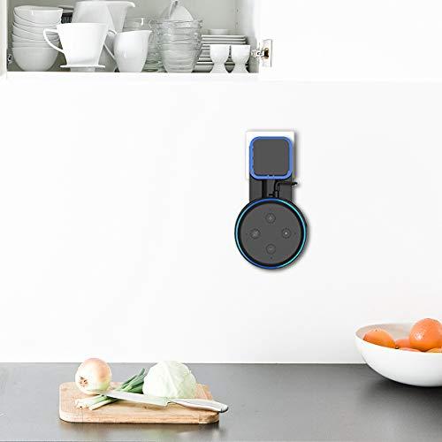 2-Pack Soporte para Dot 3ra generaci/ón Cable Perfectamente recogido sin Tornillos Altavoz Inteligente Soporte en cocinas ba/ño y Dormitorio -Blanco