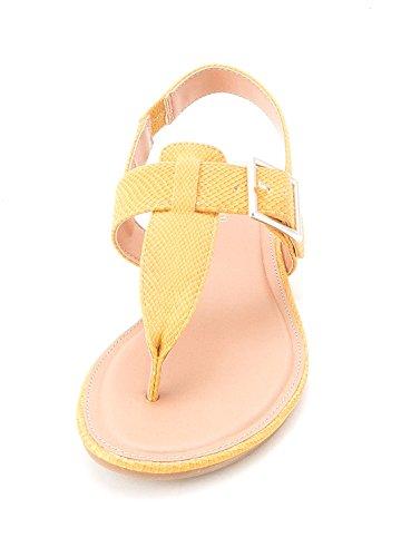Style & Co. - Sandalias de vestir para mujer Brillo Dorado
