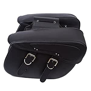 df673d16379b Amazon.com  2PC Motorcycle Synthetic Leather 2-Strap Saddlebag Tool ...