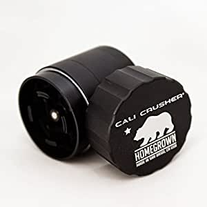 Cali Crusher Homegrown 4 Piece Pocket Grinder Black