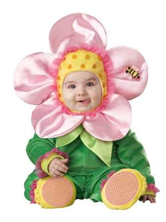 InCharacter Baby Blossom Costume, Green/Pink/Yellow, -