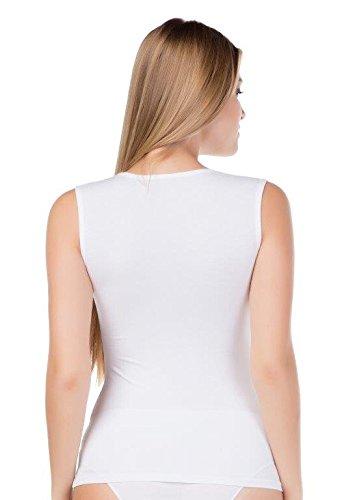 stylenmore - Camiseta sin mangas - para mujer Weiß